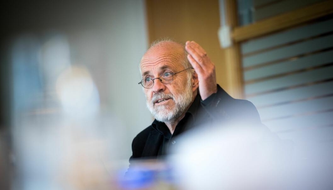 Rektor Petter Aasen på Høgskolen i Sørøst-Norge, er ikke fornøyd med ekspertgruppen som har vurdert høgskolenes muligheter til å godkjenne lærermastereselv. Foto: Skjalg Bøhmer Vold
