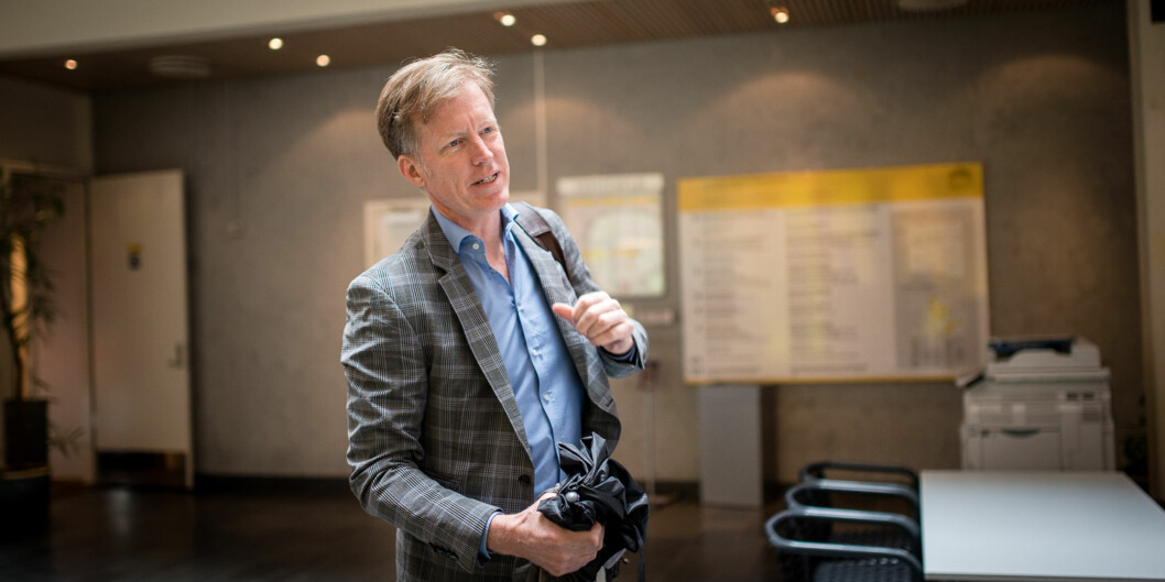 Påtroppande rektor på Høgskulen i Oslo og Akershus, Curt Rice, ventar utolmodig på at departementet skal oppnemne ny styreleiar påHiOA. Foto: Skjalg Bøhmer Vold
