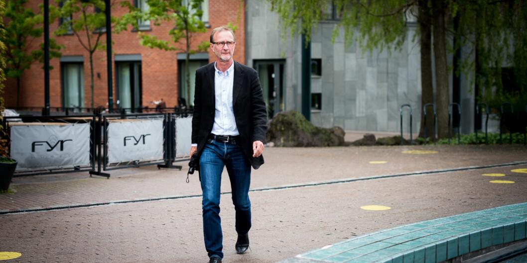Dekan på landets største lærerutdanning, Knut Patrick Hanevik, er ikke fornøyd med at stryktallene i matematikk igjen øker blant hansstudenter. Foto: Skjalg Bøhmer Vold