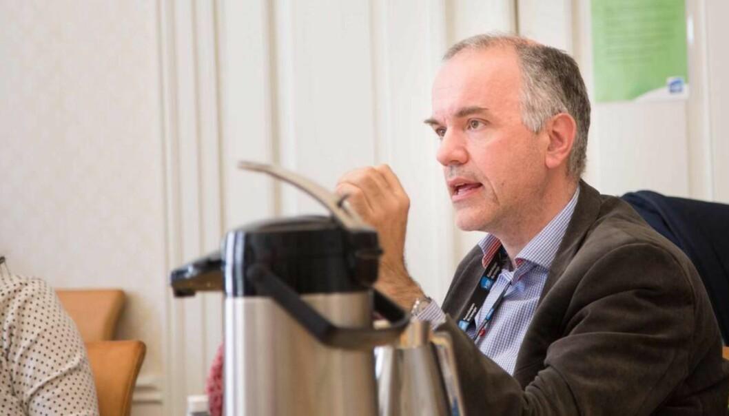 Hans Marius Eikseth fremmet benkeforslag som ble vedtatt på dagens styremøte ved Høgskolen iSør-Trøndelag