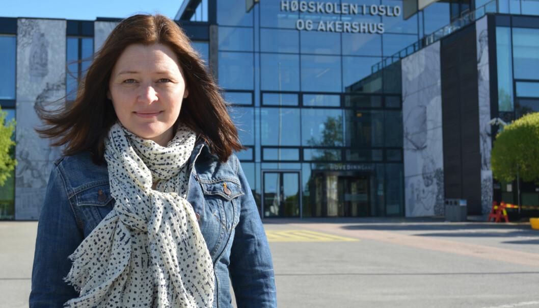 Ingvild Straume vil heller ta t-bane enn buss eller bil til Kjeller, og mener høgskolen bør være mer aktiv i offentlige debatter som angår Oslo-Akershus og regional utvikling. FOTO:Privat