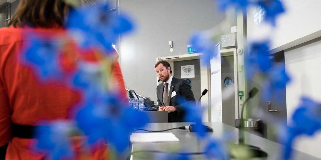 Torbjørn Røe Isaksen har kalt ledelsen ved Stord/Haugesund og Stavanger inn påteppet. Foto: Skjalg Bøhmer Vold