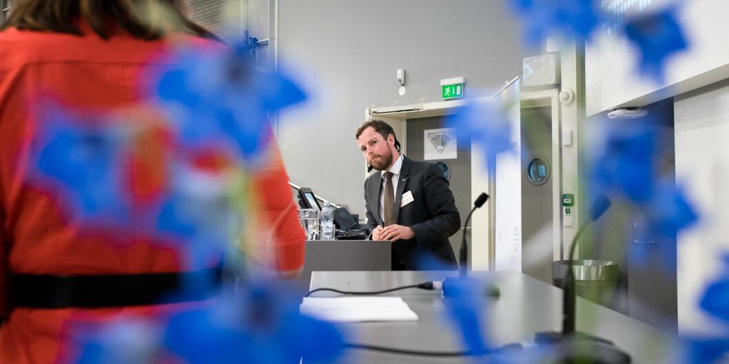 Kunnskapsminister Torbjørn Røe Isaksen legger frem tilstandsrapporten for høyere utdanning. Foto: Skjalg Bøhmer Vold