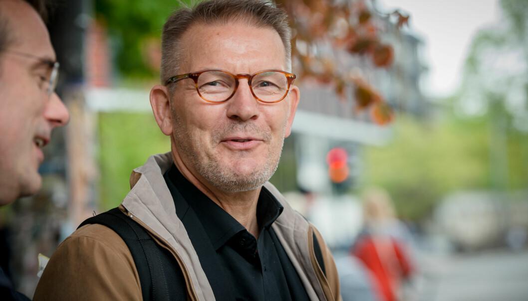 Påtroppende rektor på Høgskolen i Volda Johann Roppen og rektor på Høgskolen i Molde wHallgeir Gammelsæter. Foto: Skjalg Bøhmer Vold