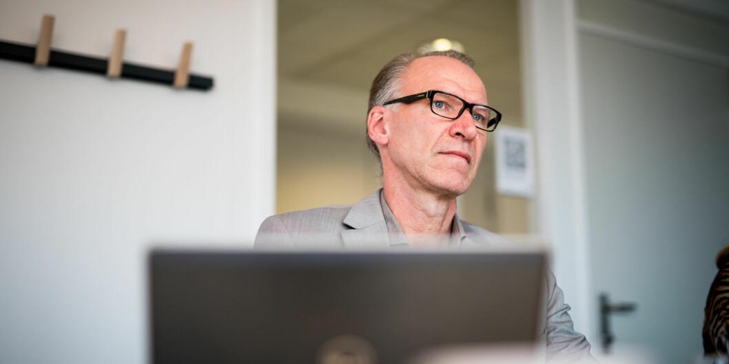"""— Det erogsåslik at professorer, dosenter og forsker1harvært en prioritert gruppe i de siste lønnsforhandlingeneog de har kommet bedre ut enn andre grupper, inklusive ledere, sier <span class=""""caps"""">HR</span>-direktør ved HiOA, Geir Haugstveit, til fagforeningenes kritikk av høyelederlønninger. Foto: Skjalg Bøhmer Vold"""