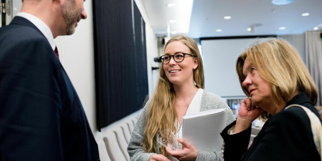 Studentleder Therese Eia Lerøen er en av mange med tydelige krav til statsbudsjettet som legges fram onsdag 7.oktober. Foto: Skjalg Bøhmer Vold