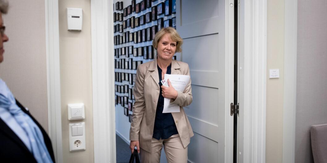"""— Det er mange saker i <span class=""""caps"""">UH</span>-sektoren som er viktigere enn dette spørsmålet om ledermodell, mener Marianne Aasen(Ap). Foto: Skjalg Bøhmer Vold"""