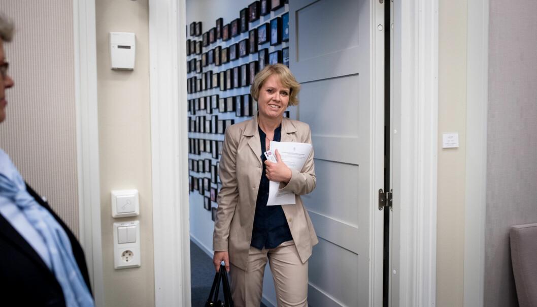 Marianne Aasen sitter i utdanningskomiteen på Stortinget. Hun mener kunnskapsminister Torbjørn Røe Isaksen skaper unødig byråkrat der man taper kvalitetsarbeidet delvis avsyne. Foto: Skjalg Bøhmer Vold