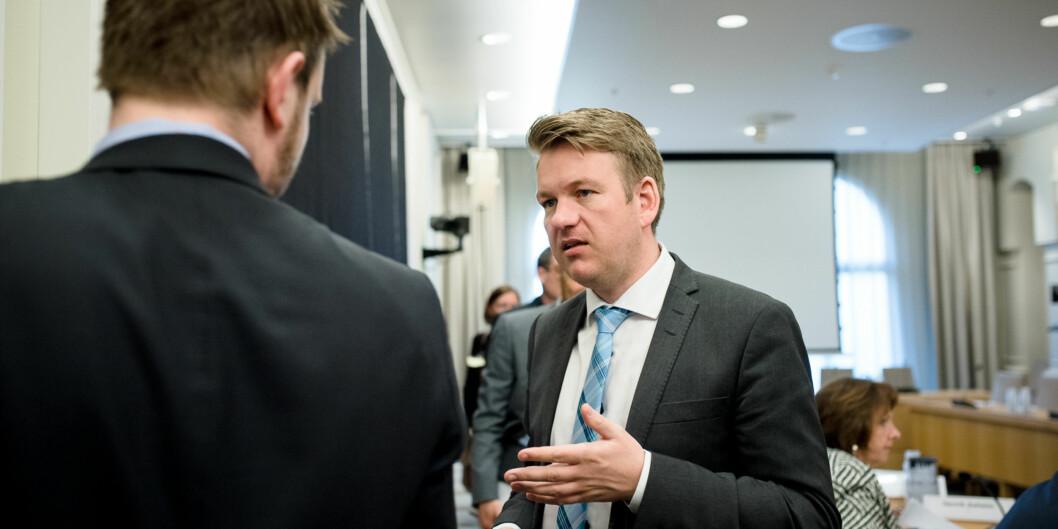 """Anders Tyvand og Venstre har fått gjennomslag for at <span class=""""caps"""">NOKUT</span> skal få sin økning på 10 millioner for å håndtere behandling av saker knyttet til godkjenning av utdanning forflyktninger. Foto: Skjalg Bøhmer Vold"""