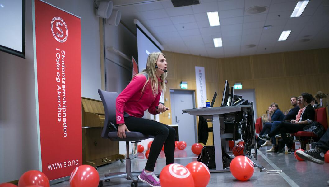 Studentene får gode eksamenstips av samskipnadenseksperter. Foto: Cicilie S. Andersen