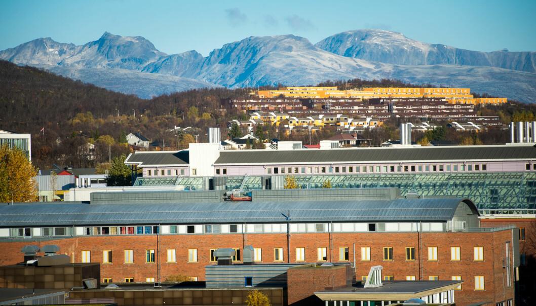 Campus på Universitetet i Tromsø Foto: Skjalg Bøhmer Vold