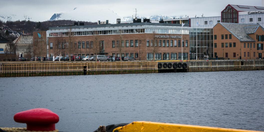 I Harstad har studenttallet gått ned etter at høgskolen ble en del av UiT Norges arktiske universitet. Foto: Skjalg Bøhmer Vold