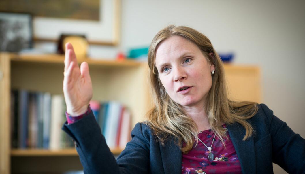 Sittende rektor Mari Sundli Tveit(42) har vært rektor i én periode og søker fire nye år i toppstillingen på Norges miljø- og biovitenskapelige universitet (NMBU) iÅs. Foto: Skjalg Bøhmer Vold