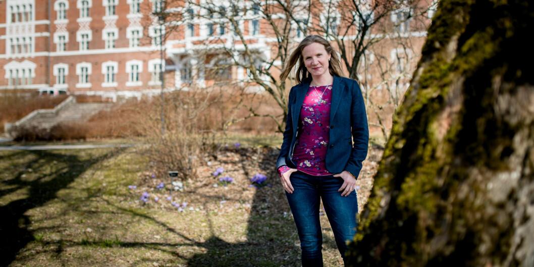 """Rektor Mari Sundli Tveit ved <span class=""""caps"""">NMBU</span> foreslår å låne penger av universitetets ubrukte midler, blant annet for å finansiere byggeprosjekter på campus iÅs. Foto: Skjalg Bøhmer Vold"""