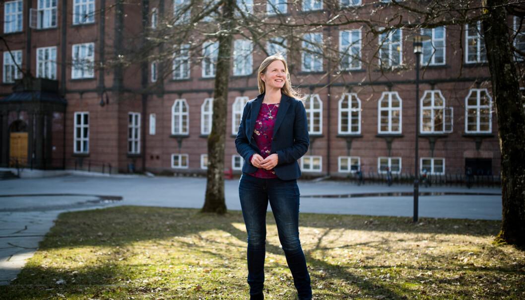 Rektor Mari Sundli Tveit ved NMBU leder en gjeng forskere som er de flinkeste i universitets- og høgskolesektoren til å hente inn midler fraForskningsrådet. Foto: Skjalg Bøhmer Vold