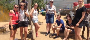 Studenter på praksis i Namibia