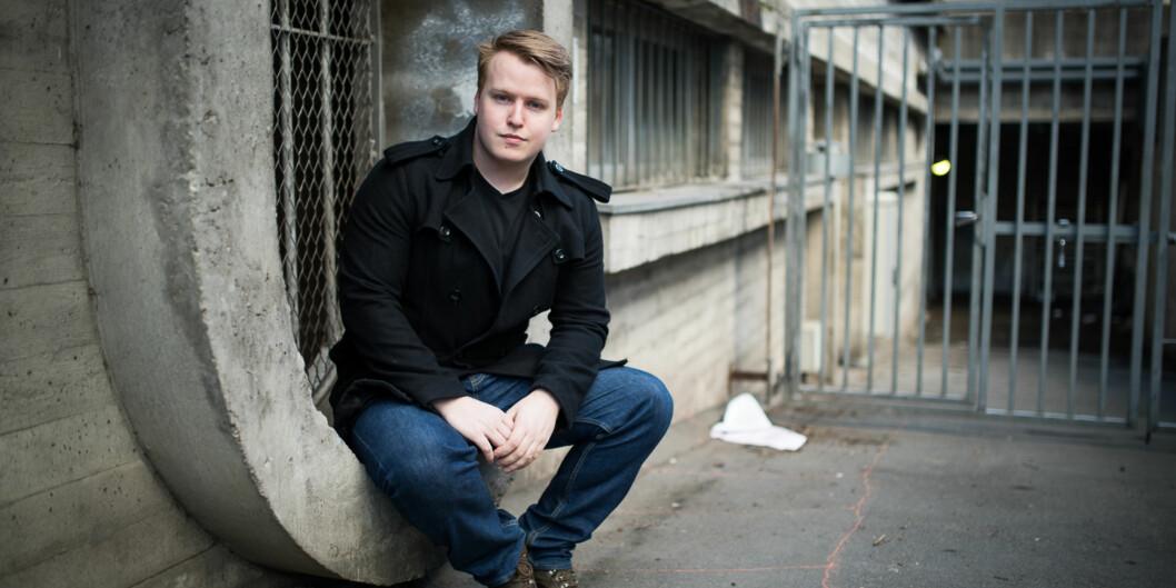 Christoffer Storm Tiller Alsvik stiller til valg som leder av arbeidsutvalget tilStudentparlamentet. Foto: Skjalg Bøhmer Vold