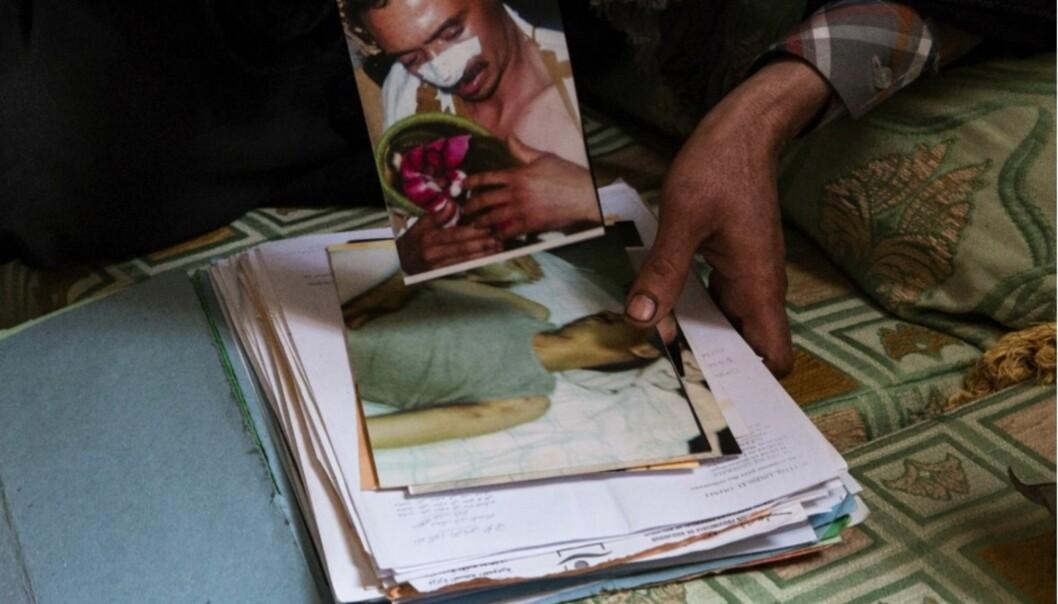 I dag offentliggjør SAIH en ny rapport som viser at bare det siste året skal 55 saharawier, blant dem syv barn, ha blitt utsatt for tortur. Ett av ofrene, Ibrahim (31) ser de som gjorde det på gaten, vet hva de heter, men kan ikke rapportere volden til noen. Foto: Thea WillochNjaastad