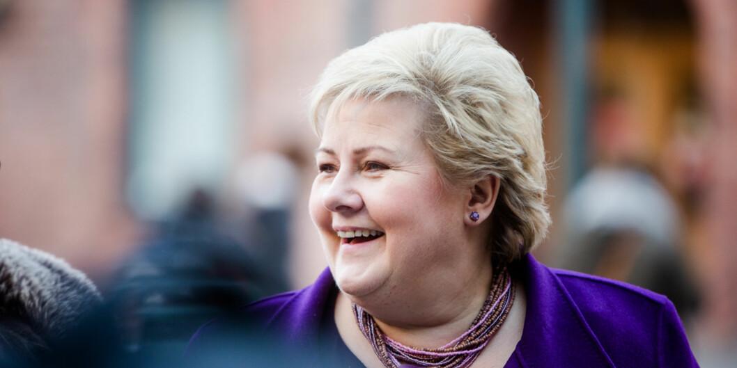 Statsminister Erna Solberg inviterer til toppmøte i Bergen for særlig utvalgte ledere fra næringsliv, akademia og organisasjoner. Foto: Eskil Wie