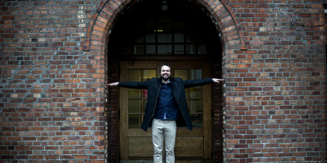Lars Berrum endte opp med å trives godt på studiet han i utgangspunktet ikke hadde planer om å gåpå. Foto: Cicilie S. Andersen
