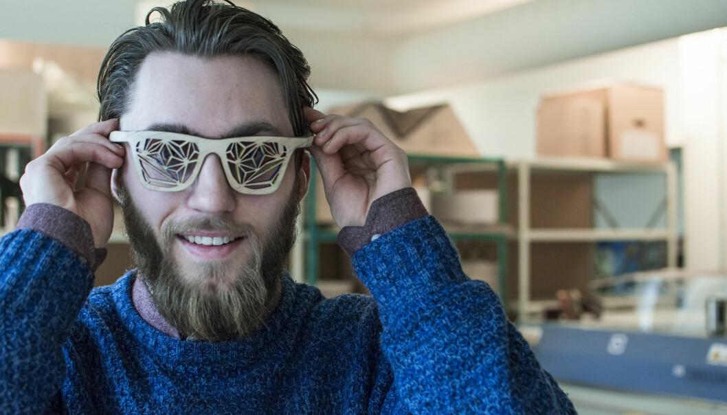 Isaac Hegna Mannings mener han har laget en festivalbrille som havnet i internasjonalbrillefinale.