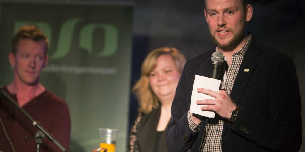 "Avtroppende leder i <span class=""caps"">NSO</span>, Anders KvernmoLangset. Foto: Øyvind Aukrust"