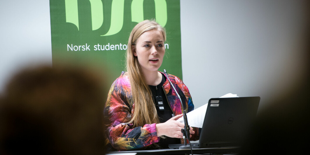"""<span class=""""caps"""">NSO</span>-leder Therese Eia Lerøen ser ingen grunn til å vente med å innføre studentombud på alle norske høgskoler og universiteter. Foto: Skjalg BøhmerVold"""
