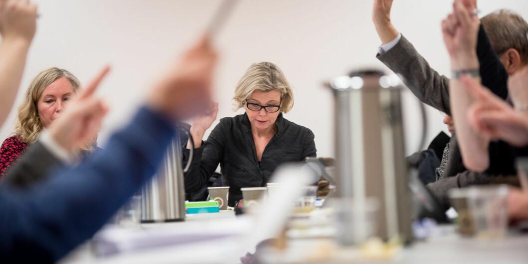 Rektor og styreleder Kari Toverud Jensen ved HiOA ber Kunnskapsdepartementet endre kravet til nominasjoner av styremedlemmer til landets høgskoler ogunviersiteter. Foto: Skjalg Bøhmer Vold