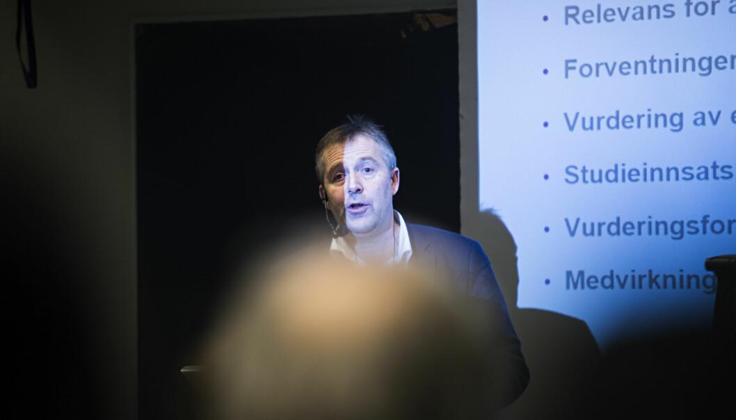 Ole-Jacob Skodvin er analysedirektør i NOKUT, og en av deltagerne på frokostmøtet.Arkivfoto.