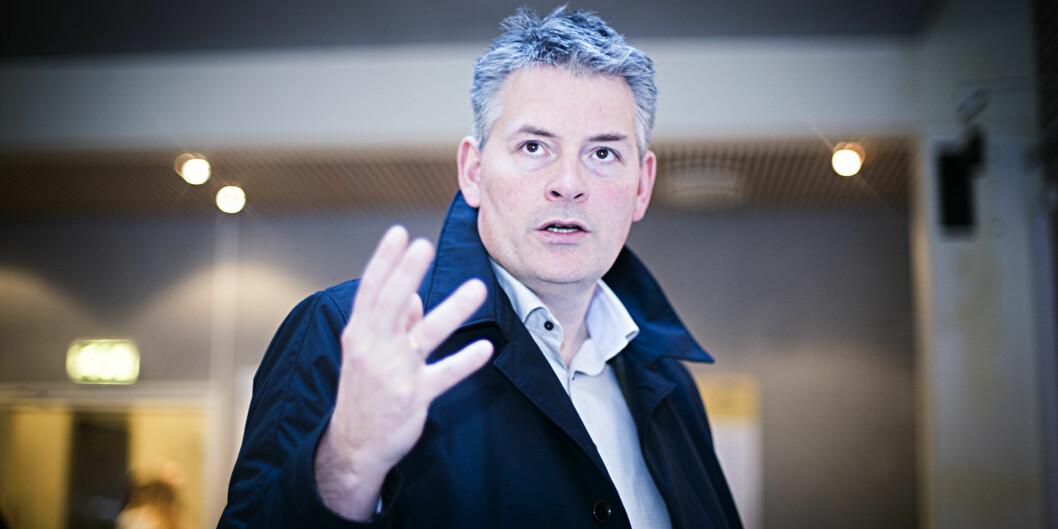 Statssekretær Bjørn Haugstad mener Høgskolen i Nord-Trøndelag har grublet lenge nok om fusjon: — Nå er tiden inne for å ta aksjon, sierhan.