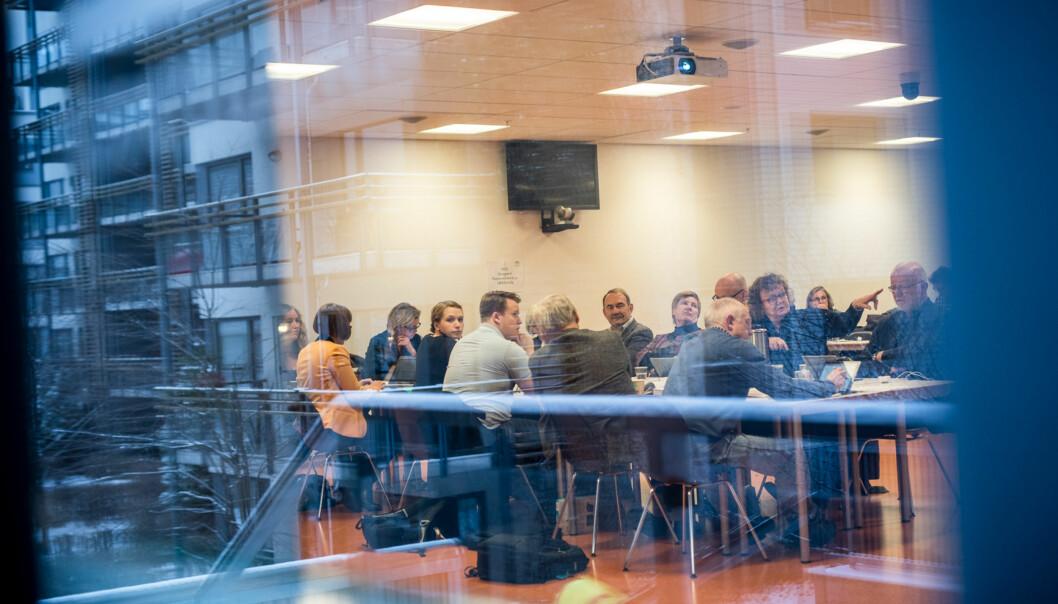 Det skal velges nye ansatterepresentanter til styret ved Høgskolen i Oslo og Akershus. 19 kandidater har meldt seg, og totalt fem pluss tre vararepresentanter skalvelges. Foto: Skjalg Bøhmer Vold