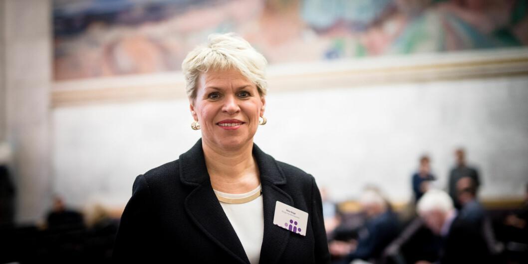 """<span class=""""caps"""">NHH</span>-direktør Nina Skage etterlyser en bedre strategisk begrunnelse for alle fusjonene som er i ferd med å bli presset gjennom på universiteter oghøgskoler. Foto: Skjalg Bøhmer Vold"""