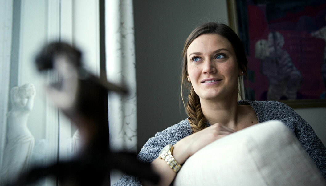 Jeanette Thorkildsen er ein av fleire studentar som endeleg kan få fullføreallmennlærarutdanninga. Foto: Cicilie S. Andersen