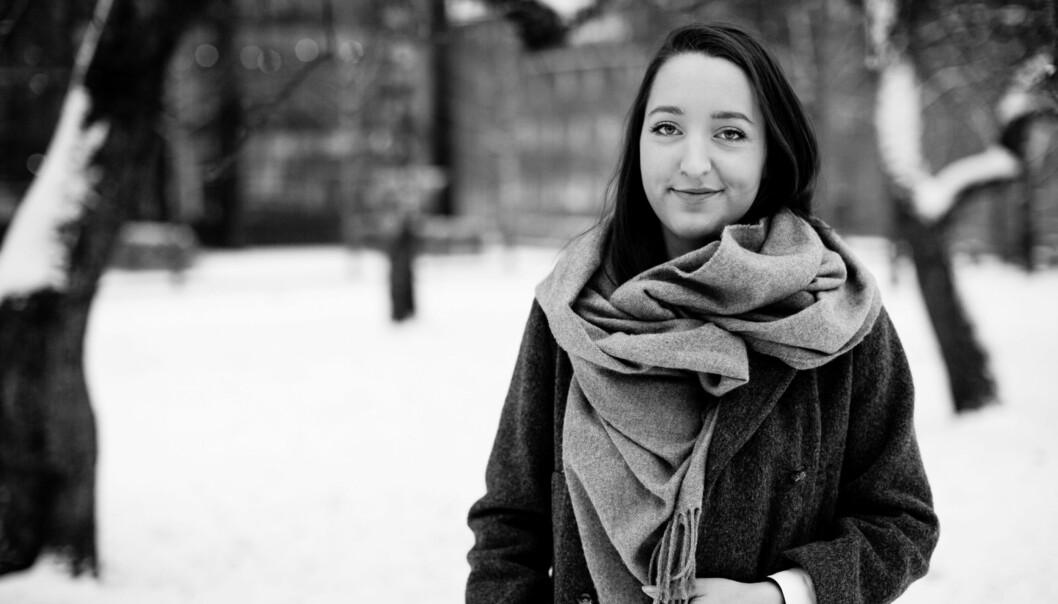 HiOA-student Sigrid Mæhle Grimsrud engasjerer seg for at studentene skal ha en god og varm hverdag i vinterkaldeOslo. Foto: Wanda Nathalie Nordstrøm