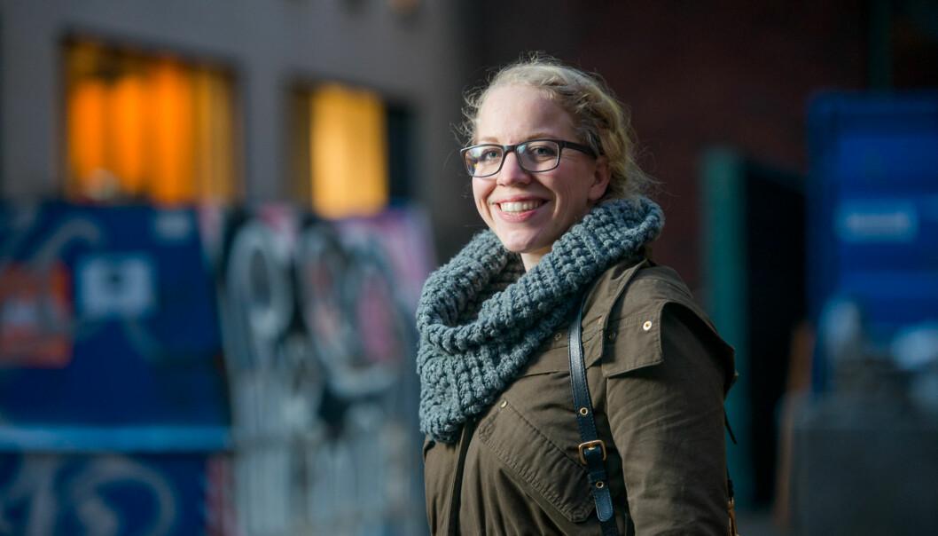 Anita Tøien Johansen skal være studentenes vaktbikkje ved Høgskolen i Oslo ogAkershus. Foto: Skjalg Bøhmer Vold