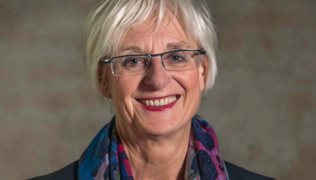 Prorektor ved NTNU Kari Melby er stolt over at hennes universitet har fått 5 av 17 sentre for forskningsdrevet innovasjon. Foto: Åge Hojem, NTNUVitenskapsmuseet