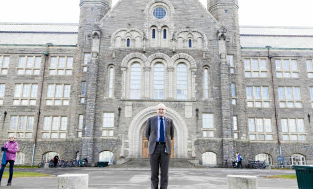 NTNUs rektor, Gunnar Bovim, og universitetets styreleder har nylig mottatt varsel om alvorlig seksuell trakassering som skal ha skjedd på eksursjon arrangert av NTNU for 15 år siden. Foto: Wanda Nathalie Nordstrøm