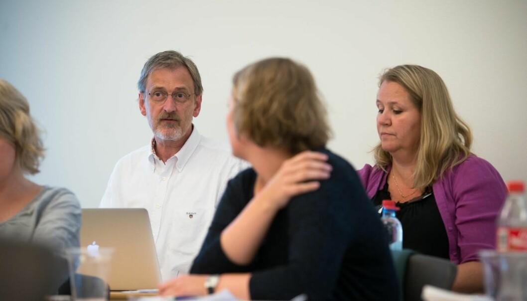 Dekan Petter Øyan (til venstre) har ikke orientert sitt fakultetstyret om utfordringene på Fakultet for teknologi, kunst ogdesign.