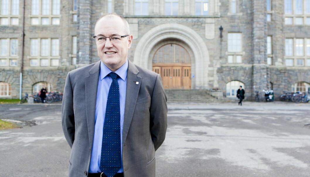 Gunnar Bovim mener at han ikke ville ikke vært rektor på NTNU i dag hvis de hadde hatt valgtledelse. Foto: Wanda Nathalie Nordstrøm