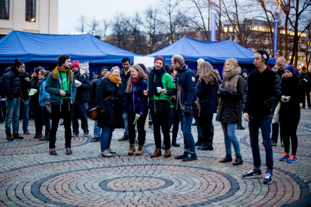 Fra markering av den internasjonale studentdagen på det juridiske fakultet ved Universitetet i Oslo. Arkivfoto.