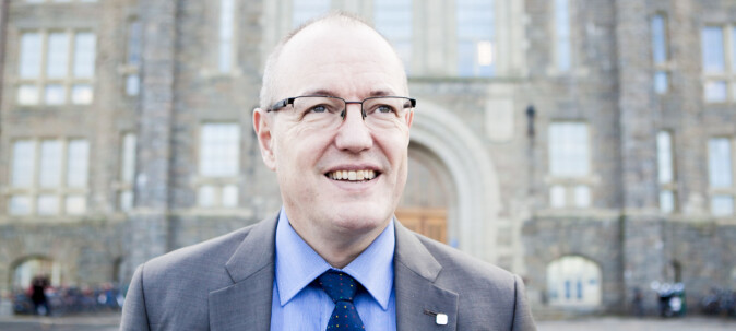 Rektor Gunnar Bovim, på Gløshaugen ved NTNU. Foto: Wanda Nathalie Nordstrøm