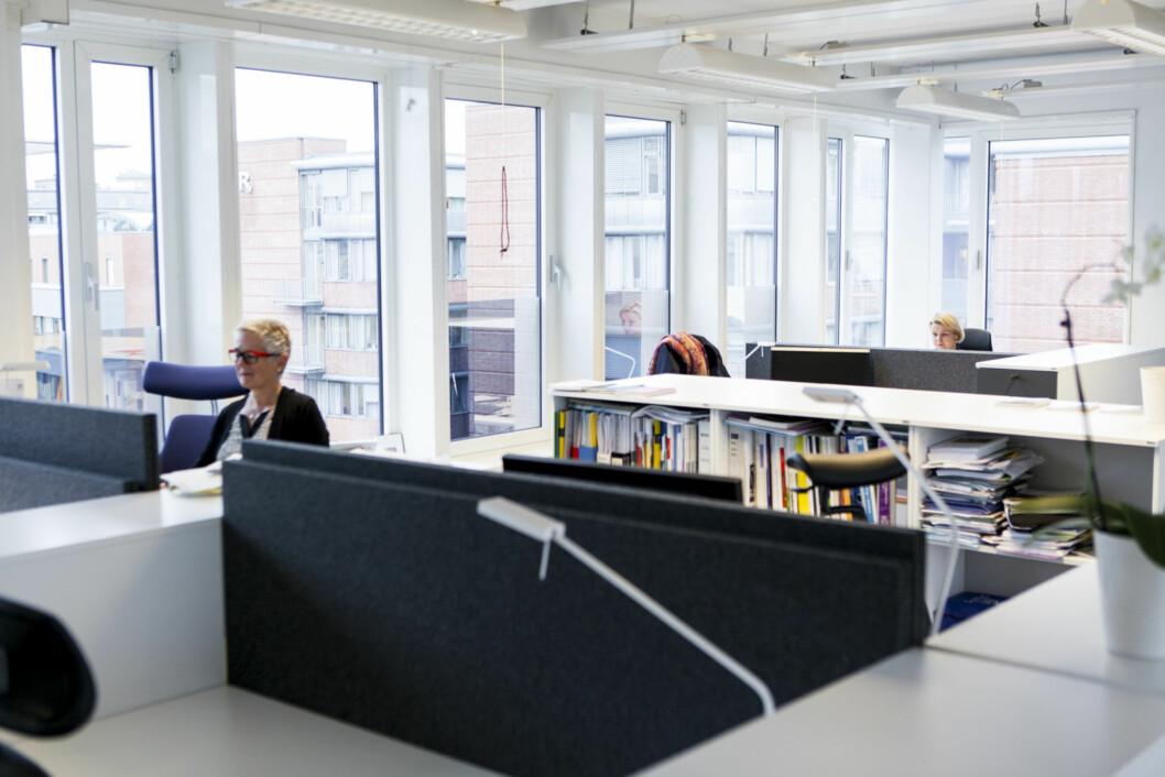 Åpent landskap for ledelsen ved OsloMet. Foto: Wanda Nathalie Nordstrøm