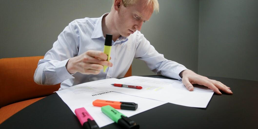 Olav Schewe er ekspert på studieteknikk og hva som skal til for å skape gode prestasjoner på eksamen. Han har til og med skrevet bok omdet. Foto: Kolstad, Tom A.