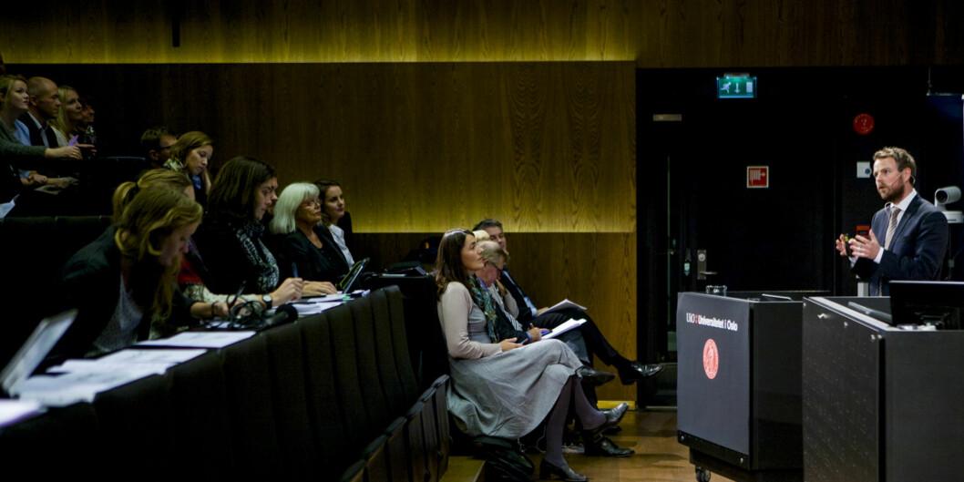 Fornyelse i offentlig sektor og bedre og mer effektive velferds-, helse- og omsorgstjenester er et av det prioriterte forskningsområdene som statsråd Røe Isaksen presenterteonsdag.
