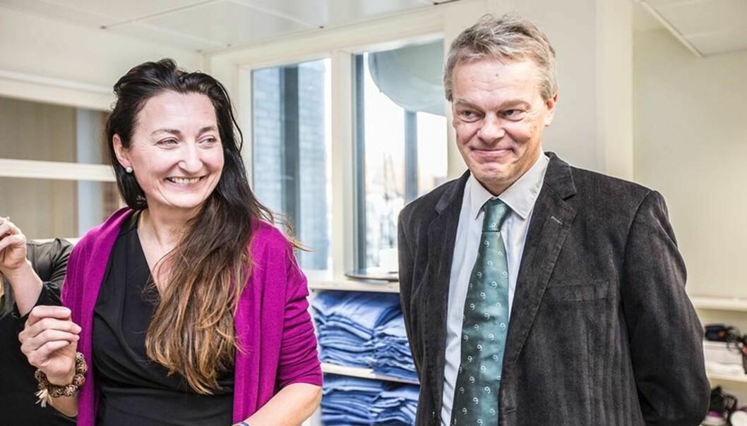 Nobelprisvinnere: Edvard og May-Britt Moser. Foto: KristofferFurberg