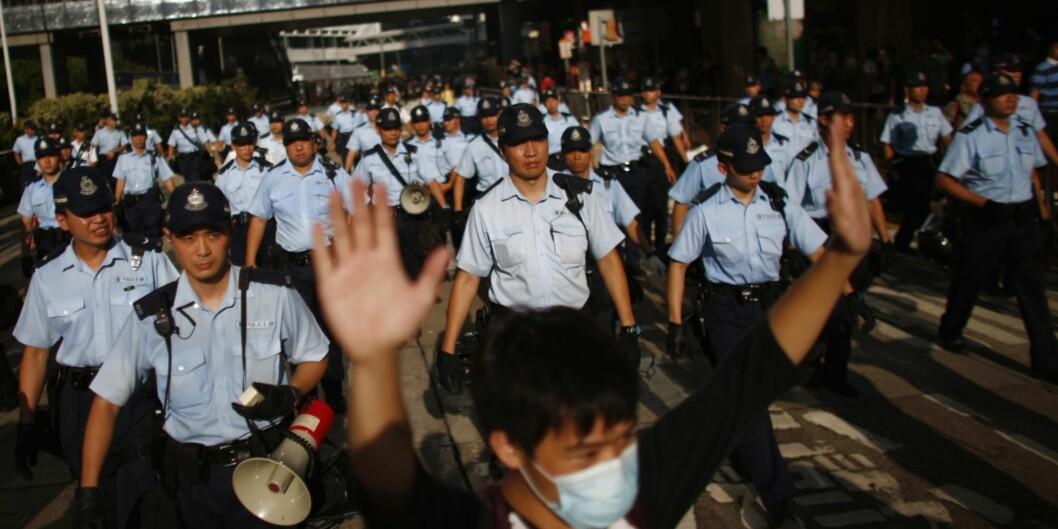 """Studentføderasjonen i Hongkong har fått frist til mandag med å avslutte demonstrasjonene. <span class=""""caps"""">FOTO</span>: <span class=""""caps"""">NTB</span>scanpix"""