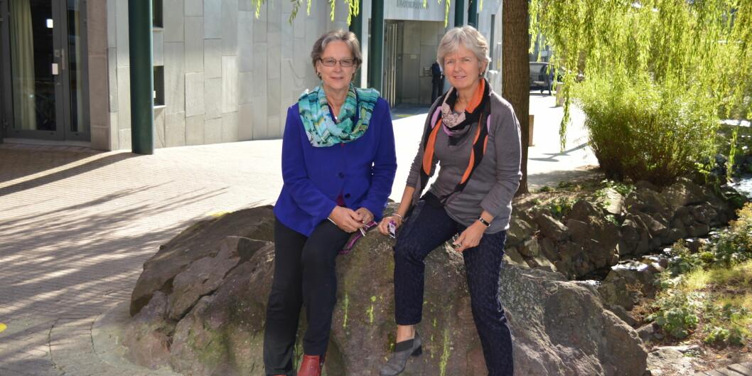 Kirsten Ekerholt og Elisabeth Møyner forteller om finsk-norsk samarbeid som bærer frukter i beggeland.