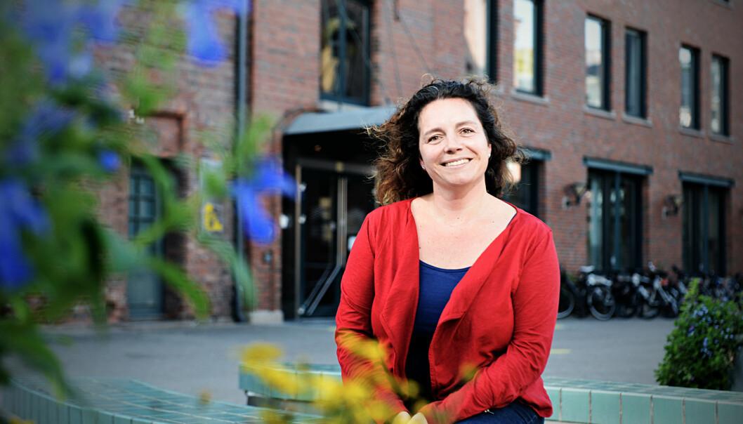 Stipendiat Elisabeth Wiken Telenius er klar for å vinne publikum i Forsker Grand Prix2014. Foto: Cicilie S. Andersen