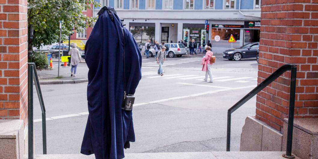 Debatten om hvorvidt det skal være greit å bruke ansiktsdekkende plagg som nikab på norske universiteter og høgskoler ruller videre. Foto: Eskil Wie