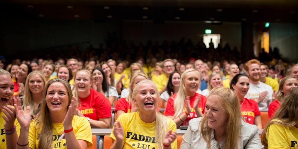 Fadderkickoff før studiestart for lærerstudenter på OsloMet i 2014. Foto: Skjalg Bøhmer Vold